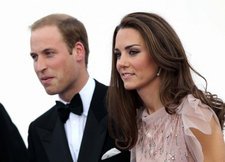 A picture dated June 9, 2011 shows Britain's Duke and Duchess of Cambridge, Prince William (L) and Catherine, arriving for a charity gala dinner, their first official royal engagement at Kensington Palace in London. (Adrian Dennis/AFP/Getty Images)