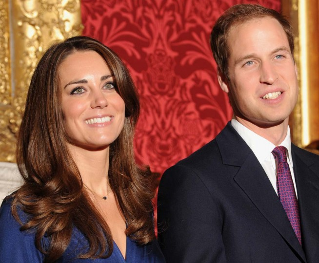 A picture dated November 16, 2010 shows Britain's Prince William (R) and his fiance Kate Middleton posing for photographers during a photocall to mark their engagement, in the State Rooms of St James' Palace, central London. (Ben Stans/AFP/Getty Images)