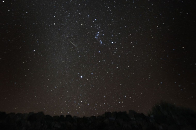 A general view of the Geminid meteor shower in the National Park of El Teide on the Spanish canary island of Tenerife on December 13, 2012. (Desiree Martin/AFP/Getty Images)