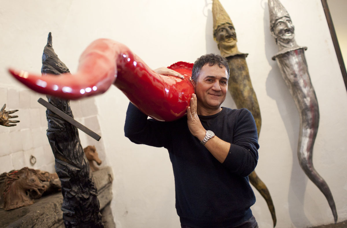 Naples italy artist hopes to stave off mayan apocalypse these giant horns larger versions of what many southern italians believe to be a symbol of good luck buycottarizona