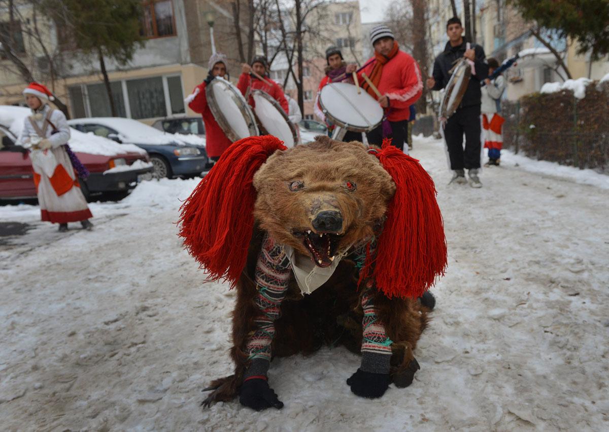 Bucharest, Romania: Bears' dance