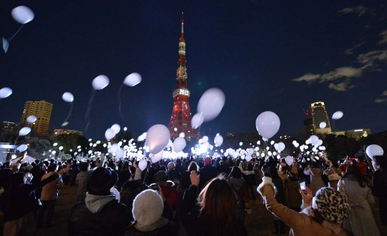People release balloons to celebrate the New Year's during an annual countdown ceremony produced by the Prince Park Tower Tokyo, flagship of the Prince hotel chain on January 1, 2013. Some 1,000 balloons were released in the air with the visitors wishes. (Kazuhiro Nogi/AFP/Getty Images)