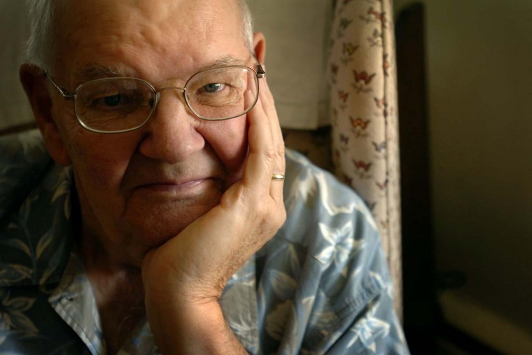 "JULY 26, 2007: George Morgan spent 31 years working for the Bethlehem Steel Sparrows Point Mill. Nowdays, Morgan suffers from pulmonary fibrosis which he says was his ""present"" from the mill. (Glen Fawcett/Baltimore Sun)"