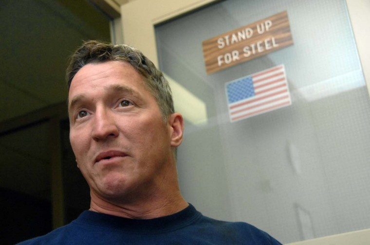 AUGUST 2, 2007: Roger Ramsey, 41, a mill wright at Sparrows Point talk about learning of the sale of the plant to Chicago-based Esmark Inc. and what he hopes for the future. Ramsey has been at the steel mill for 12 years. (Kim Hairston/Baltimore Sun)
