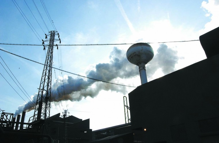MARCH 11, 2002: Scene here is the Sparrows Point complex of Bethlehem Steel. (Jason Lee/Patuxent Publishing)