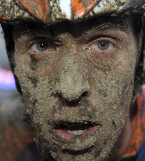 Rabobank Giant Offroad's Niels Wubben of the Netherlands looks on with a muddy face after the men's event at the 2012 Belgium UCI Cyclo-Cross World Cup in Namur December 23, 2012. (Laurent Dubrule/Reuters)