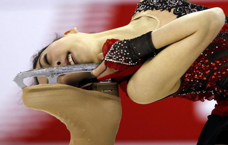 Li Zijun of China competes during the ladies' short program at the Cup of China ISU Grand Prix of Figure Skating in Shanghai November 2, 2012. (Carlos Barria/Reuters)