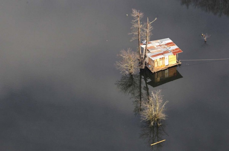 View of a cabin on a pond on land that will become the new airport in Notre-Dame-des-Landes, western France December 9, 2012. The new airport, about 19 miles from Nantes, is scheduled to be constructed for 2017. (Stephane Mahe/Reuters)
