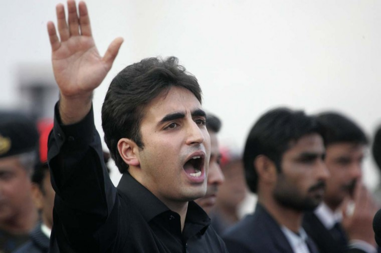 Bilawal Bhutto Zardari, son of assassinated former Pakistani prime minister Benazir Bhutto, makes a speech to launch his political career during the fifth anniversary of his mother's death, at the Bhutto family mausoleum in Garhi Khuda Bakhsh, near Larkana December December 27, 2012. (Nadeem Soomro/Reuters)