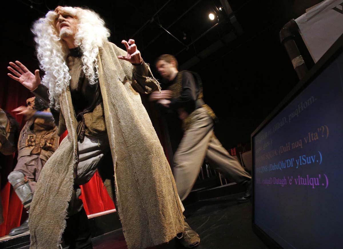 Behind the scenes at a Klingon Christmas Carol