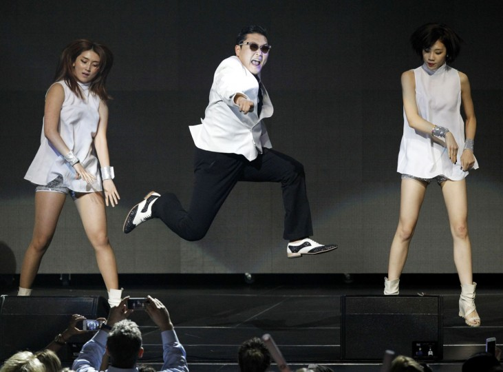 South Korean rapper Psy performs at KIIS FM's Jingle Ball concert in Los Angeles, California December 3, 2012. (Mario Anzuoni/Reuters)