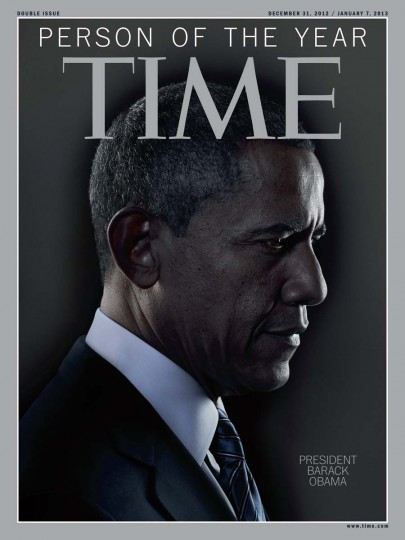 The TIME magazine Person of the Year edition features U.S. President Barack Obama. Obama was named the magazine's Person of the Year for 2012, citing his historic re-election last month as symbolic of the nation's changing demographics amid the backdrop of high unemployment and other challenges. (TIME Magazine Handout/Reuters)