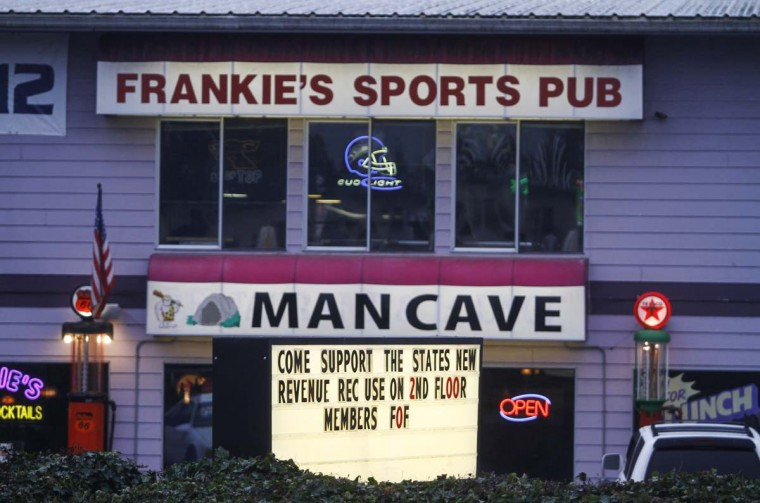 Frankie's Sports Bar and Grill recently started to allow smoking of marijuana in the bar in Olympia, Washington December 9, 2012. (Nick Adams/Reuters)