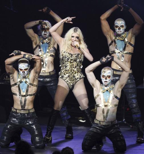 Kesha performs at KIIS FM's Jingle Ball concert in Los Angeles, California December 3, 2012. (Mario Anzuoni/Reuters)
