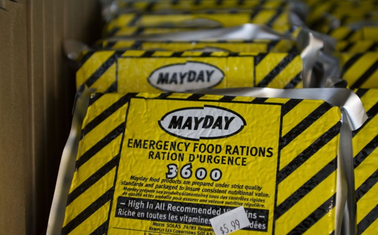Freeze dried meals, which are a staple of preppers, fill the racks at Grandma's Country Foods in Sandy, Utah. Preppers, a group of people actively preparing for serious threats, mostly discount the Mayan calendar doomsday prophecy. Still, many are getting ready for potential catastrophes as the end of the year approaches. (Jim Urquhart/Reuters)