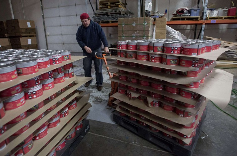 Mike Porenta prepares to ship emergency camp stoves at The American Preppers Network's warehouse in Sandy, Utah. While most preppers discount the Mayan calendar doomsday prophecy, many are still getting ready for potential catastrophes as the end of the year approaches. (Jim Urquhart/Reuters)