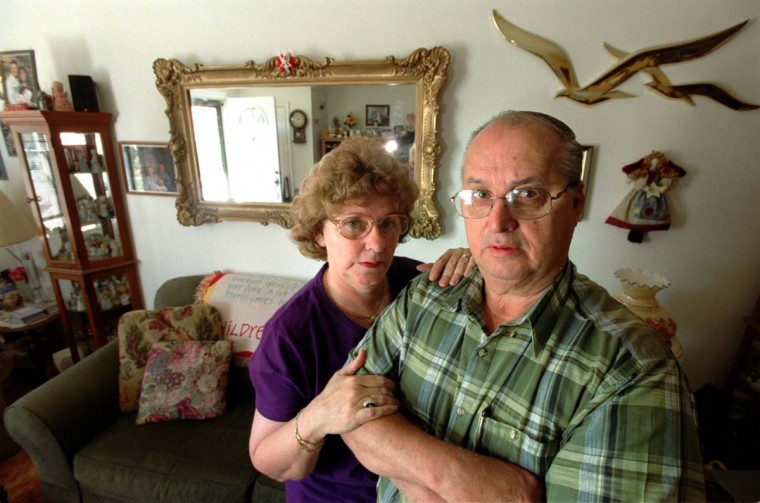 MAY 23, 2002: LeRoy R. McClelland is a retiree from Beth Steel sparrows point mill. He gets $2090 a month in pension and another $1000 or so from Social SEcurity. He and his wife, Kathryn McClelland, are doing ok now but are fearful of Beth going under and no longer paying for their health care (particularly prescription drugs) and pension. (Monica Lopossay/Baltimore Sun)