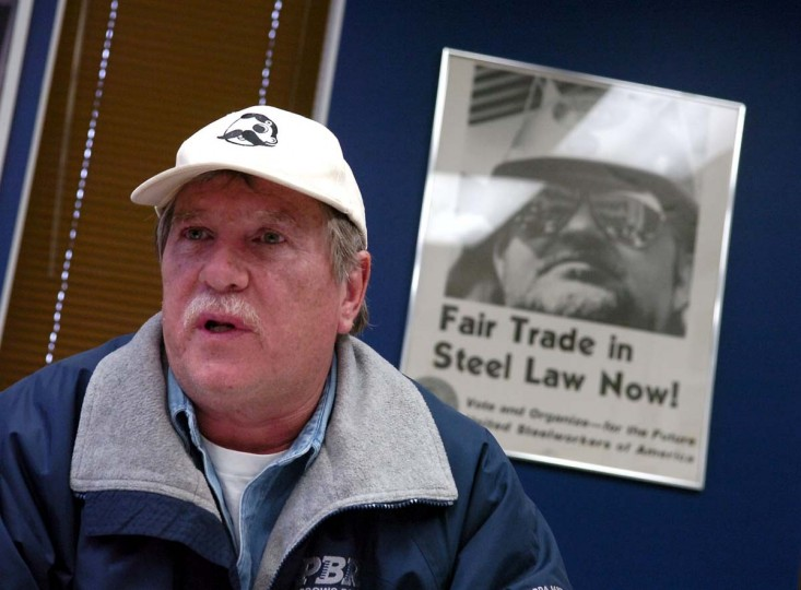 FEBRUARY 20, 2007: John Cirri the president of USW local 9477. Mittal steel company is being forced to sell the Sparrows Point Steel Mill to settle anti-trust issues. (Lloyd Fox/Baltimore Sun)
