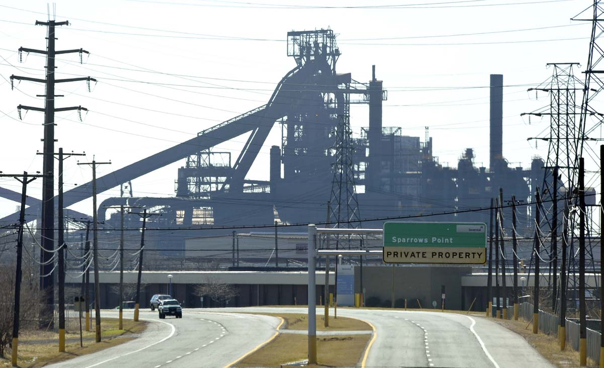 R G Steel Sparrows Point End of an era for Spar...