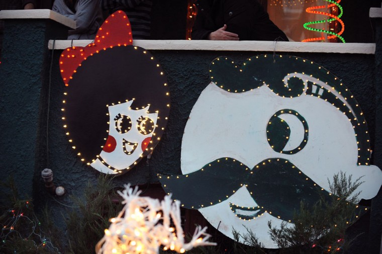 Nov. 25: Holidays in Hampden: Shown is Steve Saada's 'Natty Boh' and the 'Utz Girl' themed Christmas dispaly, at his home on 34th street in Hampden. The 34th Street Christmas extravaganza begins on this Saturday night; in the 65th year of the celebration. (Gene Sweeney Jr./Baltimore Sun)