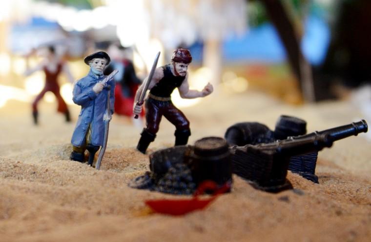 Even a few pirates made it into the Glen Avenue train garden. (Jon Sham/BSMG)