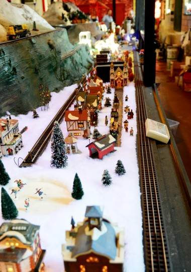 Another scene at the Glen Avenue train garden is a winter wonderland. (Jon Sham/BSMG)