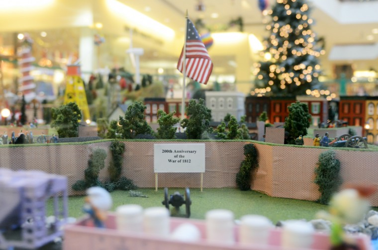 A miniature Fort McHenry was created for the train garden to celebrate the 200th anniversary of the War of 1812. (Jon Sham/BSMG)