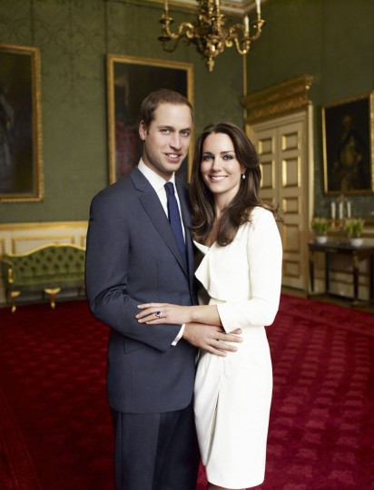 Official portrait of Prince William and his Kate Middleton when they were engaged. (Marino Testino/Getty Images)