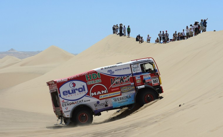 Marcel Van Vliet of team Man competes during the stage from Pisco to Pisco on day two of the 2013 Dakar Rally on January 6, 2013 in Pisco, Peru. (Shaun Botterill/Getty Images)