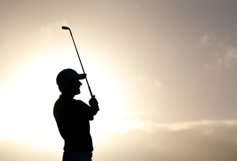 Webb Simpson hits a tee shot on the second hole during the final round of the Hyundai Tournament of Champions at the Plantation Course in Kapalua, Hawaii. (Christian Petersen/Getty Images)