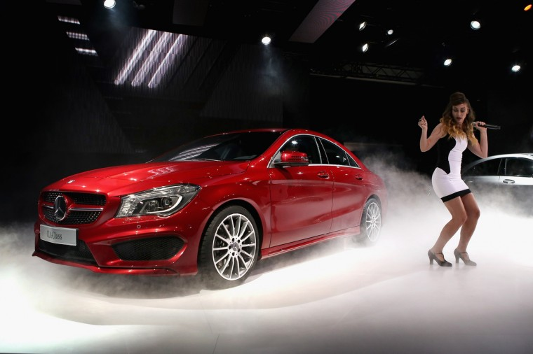 Mercedes-Benz introduces the 2014 CLA at the North American International Auto Show in Detroit, Michigan. The auto show will be open to the public January 19-27. (Scott Olson/Getty Images)