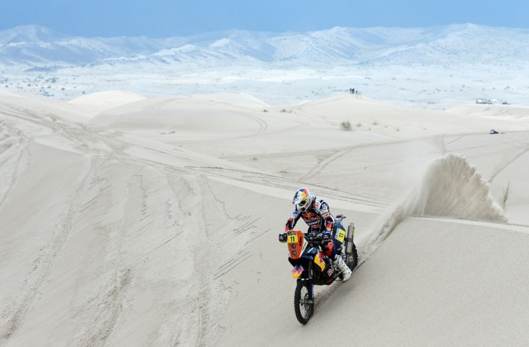 Ruben Faria of KTM Red Bull Factory Team competes in stage 11 from La Rioja to Fiambala during the 2013 Dakar Rally on January 16 in La Rioja, Argentina. (Shaun Botterill/Getty Images)
