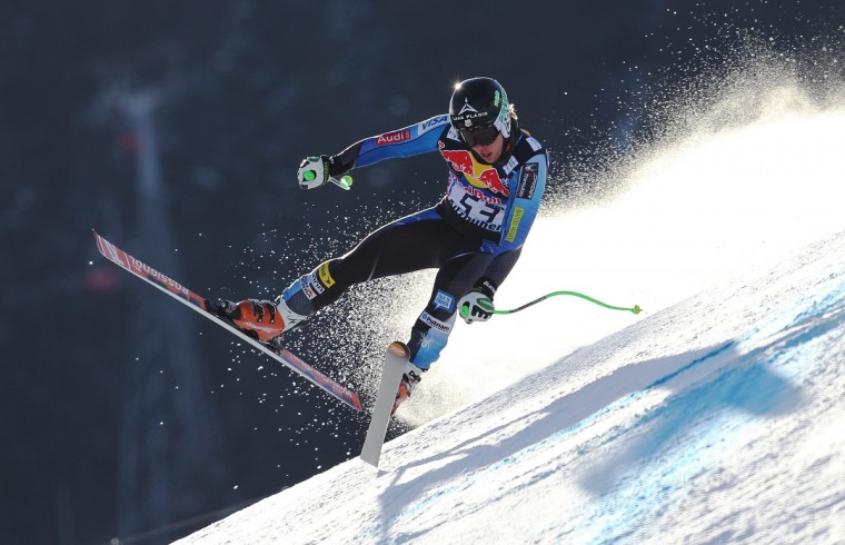 Andrew Weibrecht of the USA competes during the Audi FIS Alpine Ski World Cup Men's Downhill Training on January 24, 2013 in Kitzbuehel, Austria. (Alexis Boichard/Getty Images)