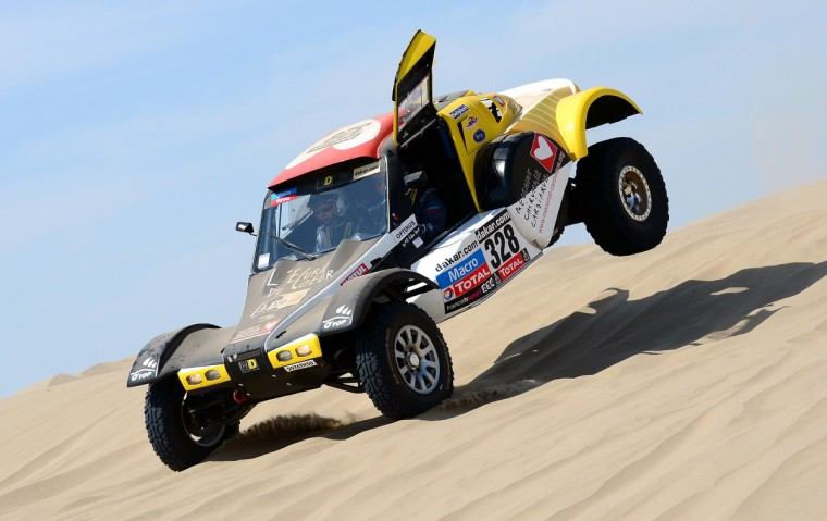 French Pascal Thomasse competes on his MD Rallye during the Stage 1 of the Dakar 2013 between Lima and Pisco, Peru, on January 5, 2013. The rally will take place in Peru, Argentina and Chile from January 5 to 20. (Franck Fife/Getty Images)