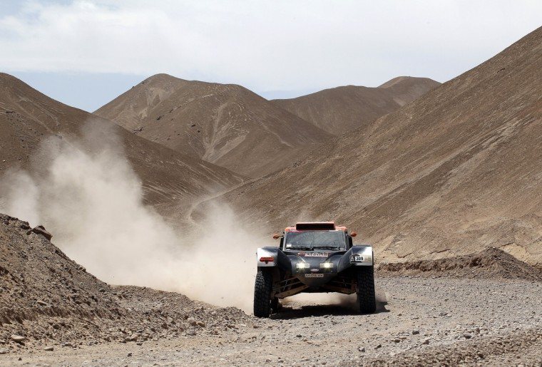 France's Guerlain Chicherit competes during Stage 5 of the Dakar Rally 2013 between Arequipa and Arica, Chile, on January 9, 2013. (Frederic Le Floc'h/Getty Images)