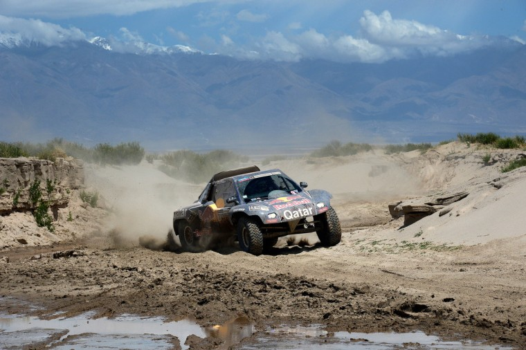 Qatar's Nasser Al-Attiyah competes during Stage 8 of the Dakar Rally 2013 between Salta and Tucuman, Argentina, on January 12, 2013. (Franck Fife/Getty Images)