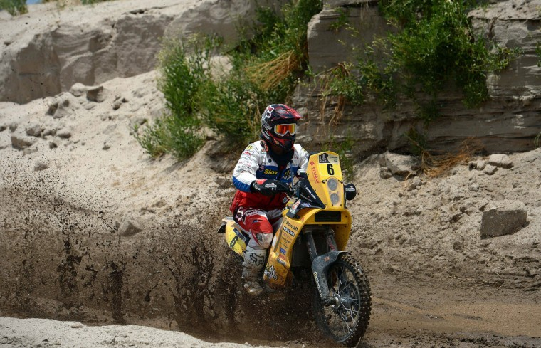 Slovakia´s Stefan Svitko competes during Stage 8 of the Dakar Rally 2013 between Salta and Tucuman, Argentina, on January 12, 2013. (Franck Fife/Getty Images)