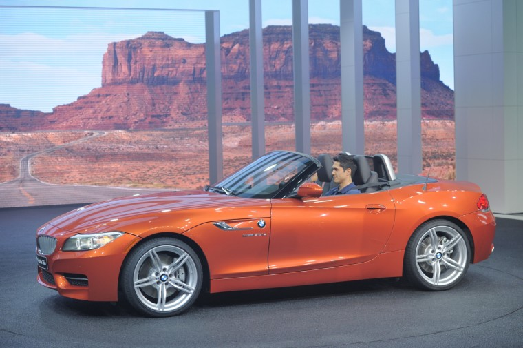 The BMW Z4 sDrive is introduced at the 2013 North American International Auto Show in Detroit, Michigan. (Stan Honda/Getty Images)