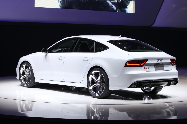 The Audi RS7 is introduced at the 2013 North American International Auto Show in Detroit, Michigan. (Geoff Robins/Getty Images)