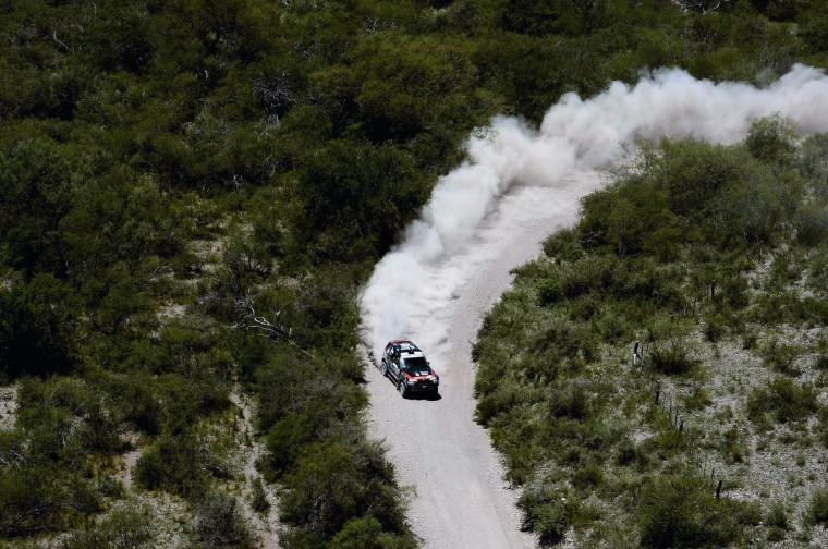 BMW's Orlando Terranova of Agrentina competes during the Stage 10 of the Dakar 2013 between Cordoba and La Rioja, Argentina, on January 15, 2013. The rally takes place in Peru, Argentina and Chile between January 5 and 20. (Franck Fife/Getty Images)