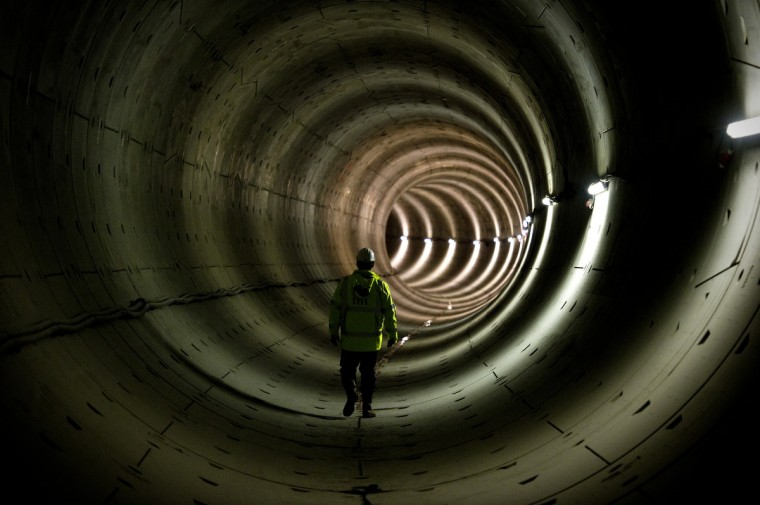 A worker stands in the tunnel of the North-South subway line in Amsterdam. The new 'Line 52' was due for completion by 2012, but the project was reportedly delayed because of financial and structural reasons. Completion of Line 52 is now scheduled for 2017. The line will offer more direct journey possibilities as well as connections with Amsterdam Central Station. (Robin Van Lonkhuijsen/Getty Images)