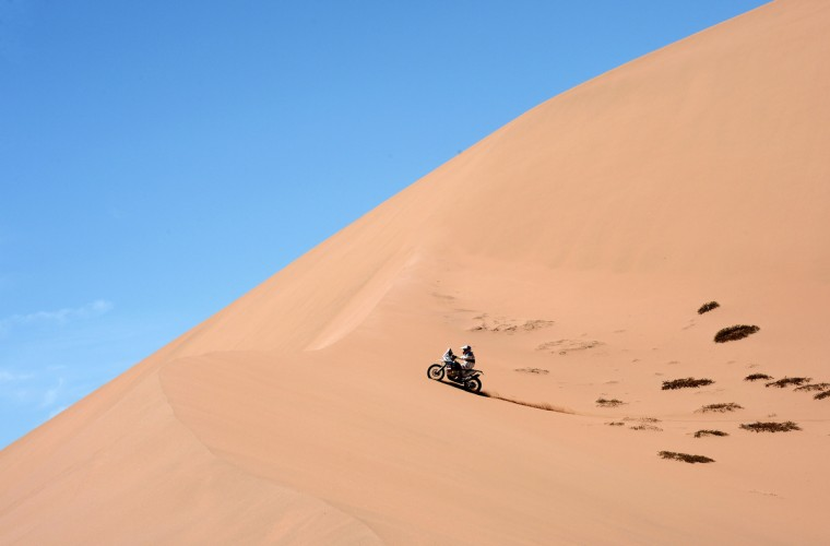 KTM's rider Francisco Chaleco Lopez of Chile competes during the Stage 12 of the Dakar 2013 between Fiambala, Argentina and Copiapo, Chile, on January 17, 2013. (Franck Fife/Getty Images)