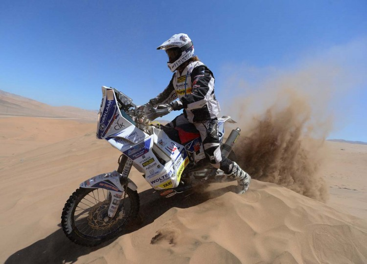 Alex Van Ginkel of Team Memo Tours competes in stage 13 from Copiapo to La Serena during the 2013 Dakar Rally on January 18 in Copiapo, Argentina. (Shaun Botterill/Getty Images)