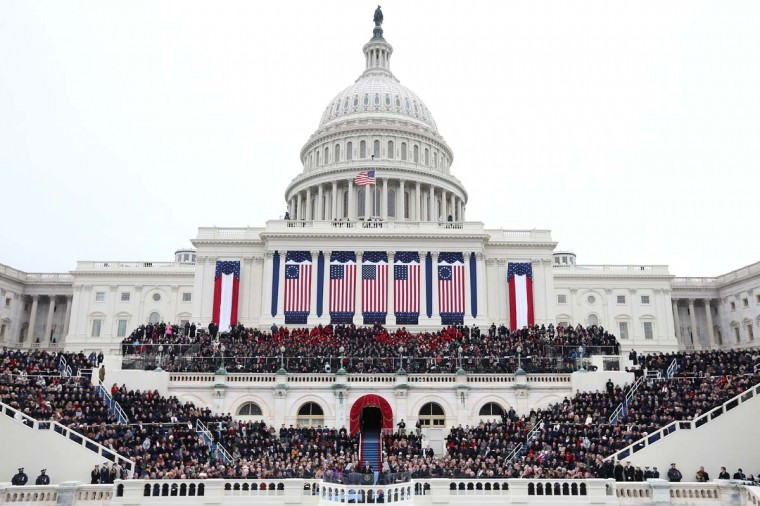 U.S. President Barack Obama gives his inauguration address during the public ceremonial inauguration on the West Front of the U.S. Capitol January 21, 2013 in Washington, DC. (Justin Sullivan/Getty Images)