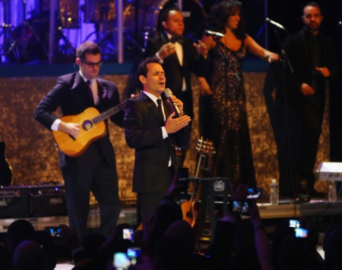Singer Marc Anthony performs during the Commander-In-Chief's Inaugural Ball January 21, 2013 in Washington, DC. (Joe Raedle/Getty Images)