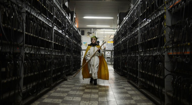 A young carol singer dressed like one of the Magi visits the coal mine Prosper Haniel Schacht 10 on January 4, 2013 in Bottrop, western Germany. (Patrik Stollarz/AFP/Getty Images)