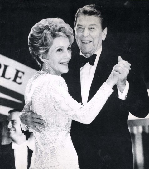 January 21, 1985 — President Reagan and Mrs. Reagan have the first dance at the Inaugural Ball for Young Americans at the D.C. Armory in Washington Monday night. (AP File Photo)
