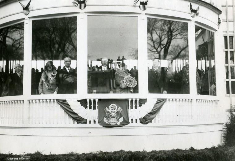 March 4, 1929 — President Herbert Hoover's inaugural ceremonies. (Harris & Ewing File Photo)
