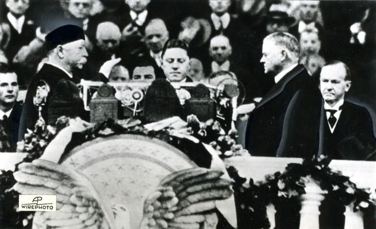 March 4, 1929 — President Herbert Hoover inaugural ceremonies. (AP File Photo)