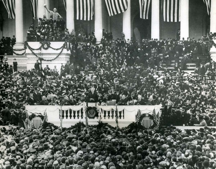 March 5, 1917 — Woodrow Wilson's second Inauguration. (AP File Photo)
